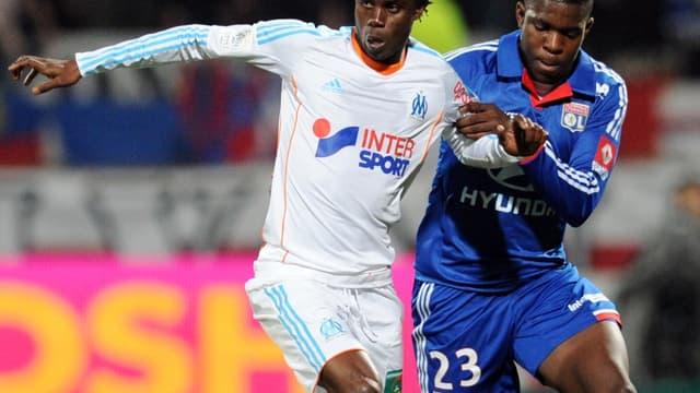 Modou Sougou au duel avec Samuel Umtiti