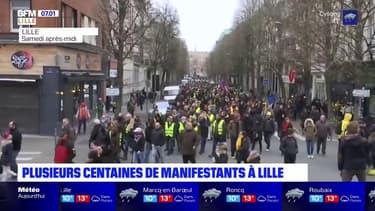 Gilets jaunes: plusieurs centaines de manifestants recensés à Lille dans un climat tendu