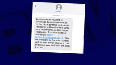 Le SMS envoyé par le gouvernement à tous les Français, samedi 28 novembre 2020