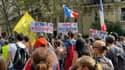 Manifestation contre le pass sanitaire et l'obligation vaccinale pour certaines professions, le 18 septembre 2021 à Paris (image d'illustration)