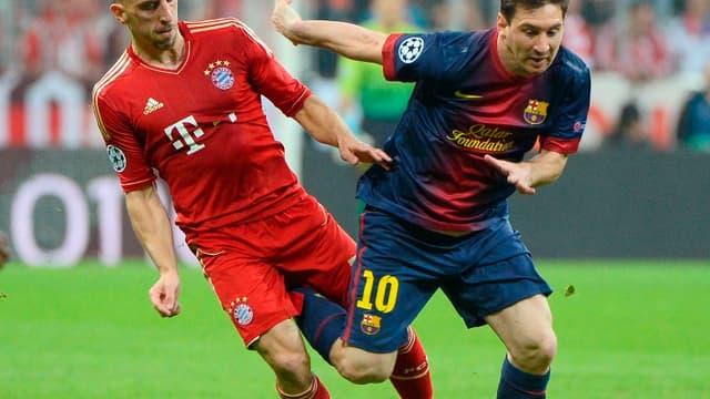 Franck Ribéry et Lionel Messi