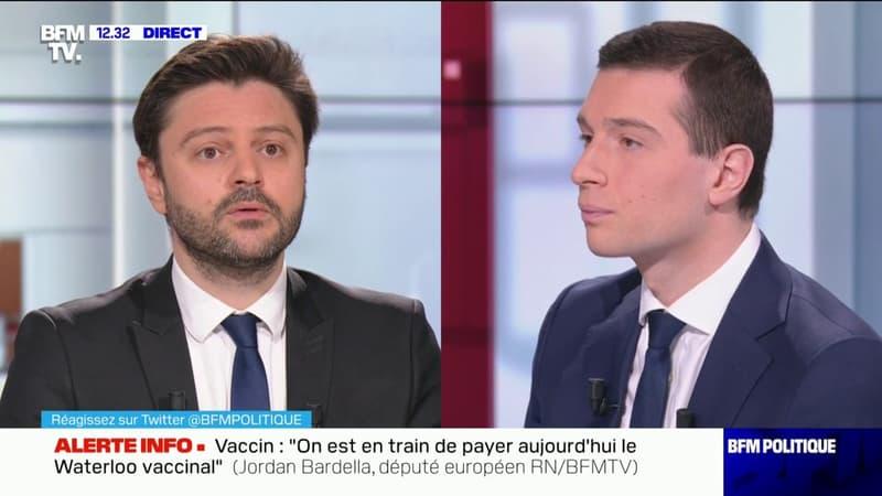 """Jordan Bardella propose de mettre deux agents de sécurité armés dans toutes les gares d'Île-de-France et assure être """"en train de chiffrer la mesure"""""""