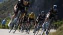 L'équipe Sky et son leader, le maillot jaune Chris Froome
