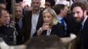 Marine Le Pen au Salon de l'agricuture mardi.