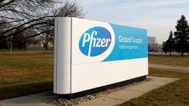 L'usine Pfizer de Kalamazoo, dans l'Etat du Michigan, le 11 décembre, 2020. (IMAGE D'ILLUSTRATION)