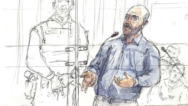 Redoine Faïd assure se sentir mal à l'aise dans le box des accusés.