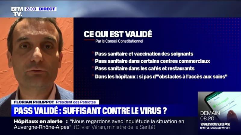 """Florian Philippot sur la loi sanitaire: """"La décision du Conseil constitutionnel est une trahison du peuple de France"""""""