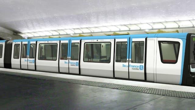 Comme ici sur la ligne 11, toutes les lignes de métro vont passer au bleu.
