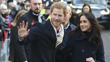 Le prince Harry et sa fiancée Meghan Markle à Nottingham, le 1er décembre 2017