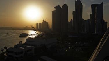 Vue du Qatar. (illustration)
