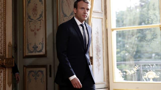 Emmanuel Macron au Palais de l'Elysée le 30 octobre 2017.