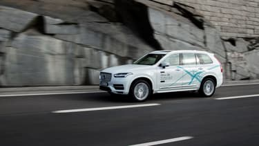 La XC90 de Volvo dont Uber se sert pour mener son expérimentation