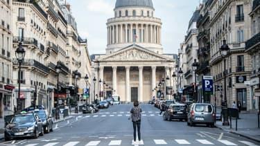Photo prise à Paris, devant le Panthéon, en plein confinement, le 19 mars dernier.