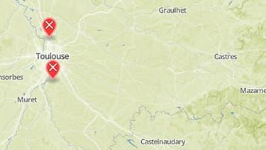 Les deux hommes ont été interpellés à Aucamville, au nord de Toulouse, et Vieille-Toulouse, au sud.