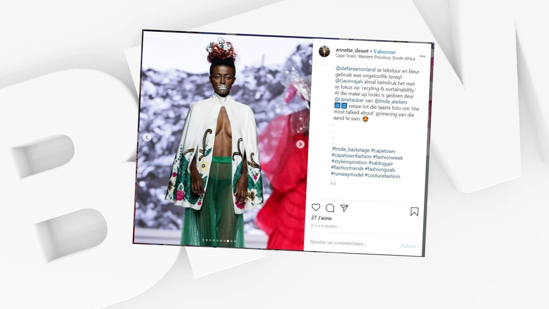 Le styliste sud-africain Gavin Rajah inspiré par le coronavirus