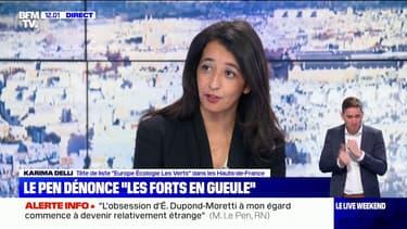 """Karima Delli: """"Marine Le Pen est prête à toutes les provocations immondes, indécentes, pour qu'on parle d'elle coûte que coûte"""""""