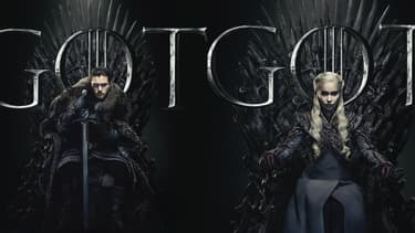 Kit Harrington et Emilia Clark sur les affiches de l'ultime saison de Game of Thrones.