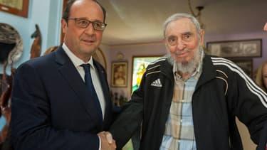 François Hollande et Fidel Castro le 11 mai 2015