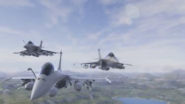 """""""Aboard the Rafale"""" propose de prendre les commandes d'un Rafale et d'effectuer des missions après un entrainement au centre de cibles virtuelles"""