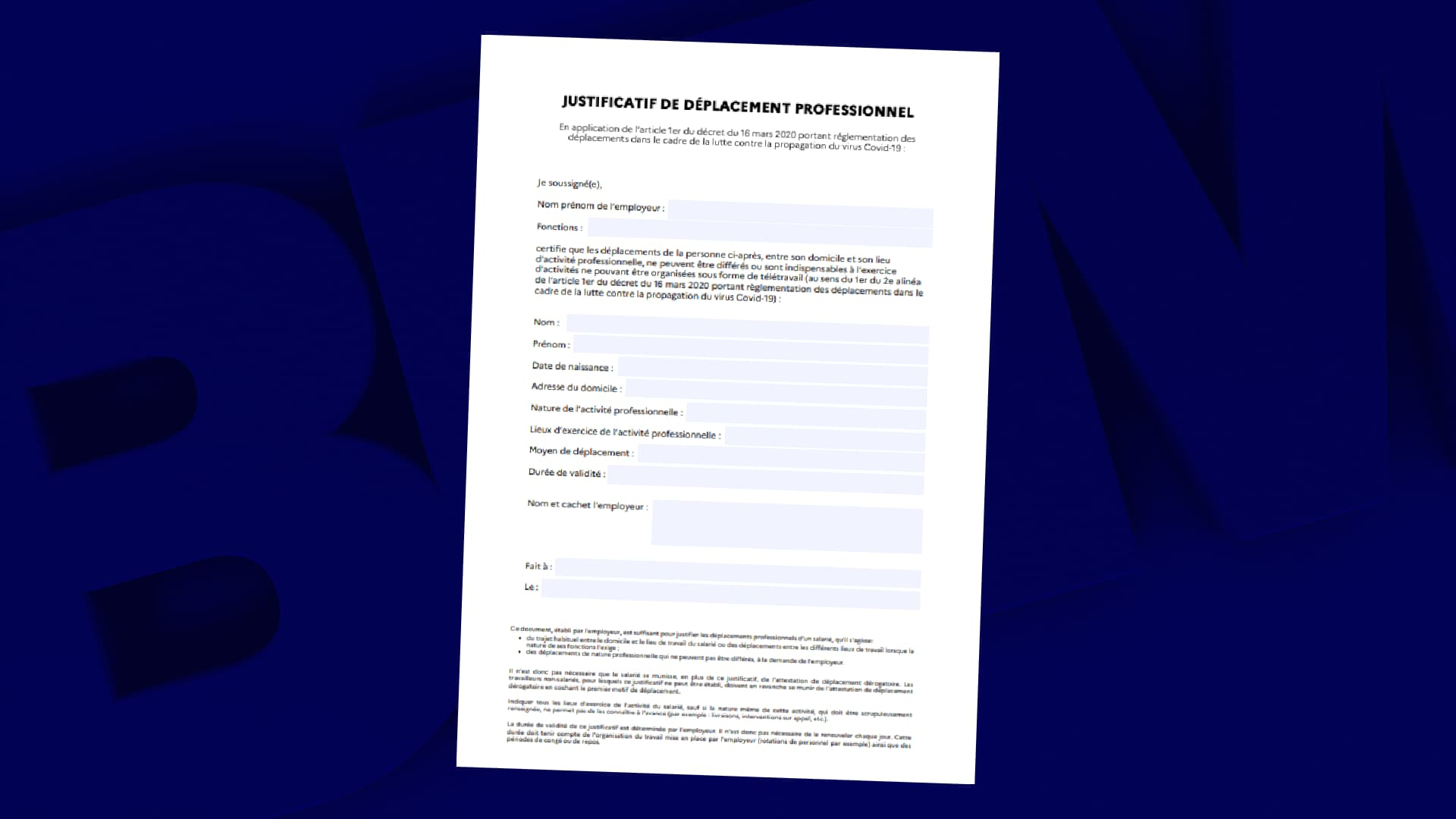 Confinement La Nouvelle Attestation Employeur Suffit Comme Justificatif Aux Salaries En Deplacement