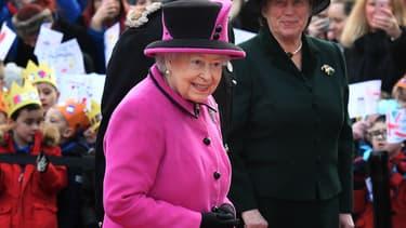 Elizabeth II au Sainsbury Centre, le 27 janvier 2017