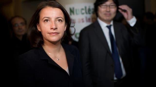 Cécile Duflot et Jean-Vincent Placé en novembre 2011au conseil fédéral d'EELV.