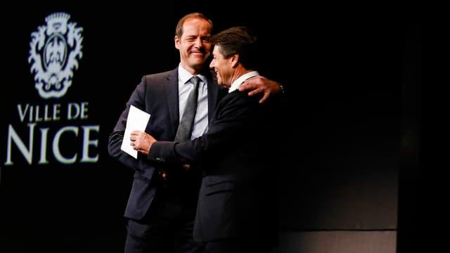 Christian Estrosi, le maire de Nice (à droite)