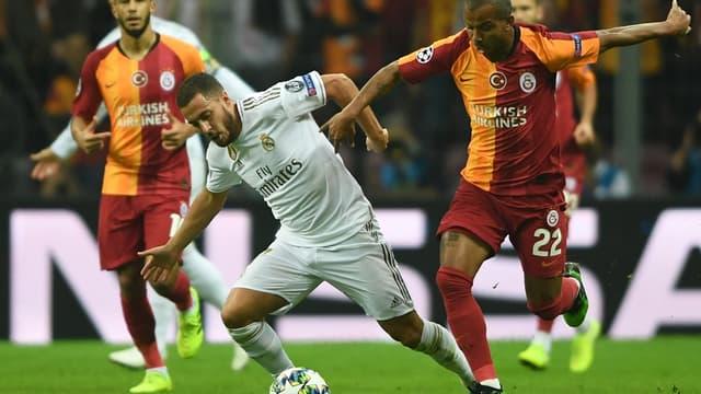 Eden Hazard (Real Madrid) face à Galatasaray