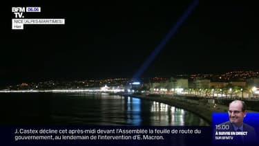 86 faisceaux lumineux ont illuminé le ciel de Nice en hommage aux victimes de l'attentat du 14 juillet 2016