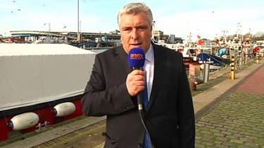Le ministre des Transports et de la Mer Frédéric Cuvillier sur BFMTV lundi