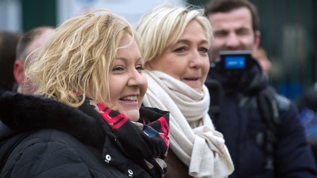 Sophie Montel et Marine Le Pen, le 23 janvier dernier.