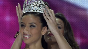 Flora Cocquerel, couronnée Miss France 2014 en décembre 2013.