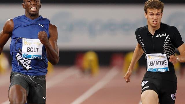 Usain Bolt et Christophe Lemaitre