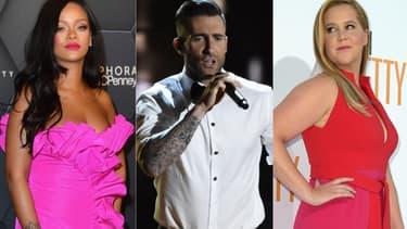 Rihanna, Adam Levine et Amy Schumer