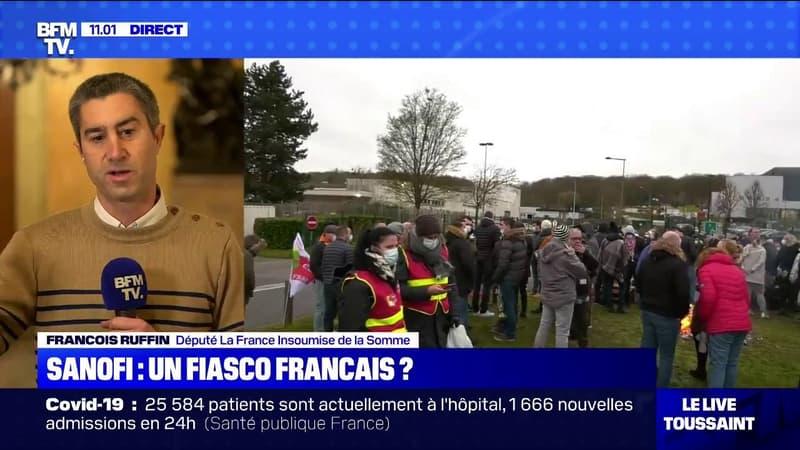 """François Ruffin (LFI): """"Sanofi a purement et simplement abandonné sa recherche"""""""