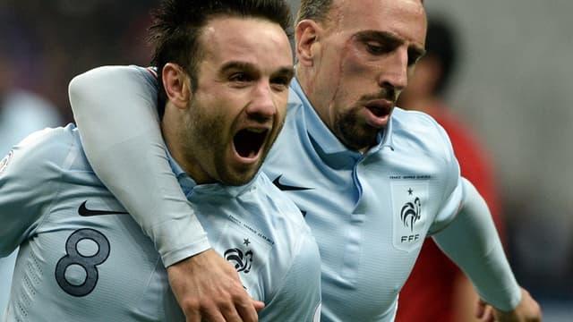 Mathieu Valbuena et Franck Ribéry
