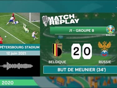 Euro 2020 : Le goal replay de Belgique - Russie (3-0)