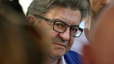 Le chef de file de La France insoumise Jean-Luc Mélenchon, à Blagnac, le 9 juillet 2020