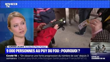 """9000 personnes au Puy du Fou: pour Aurore Lalucq, """"cette dérogation est un non-sens absolu"""""""