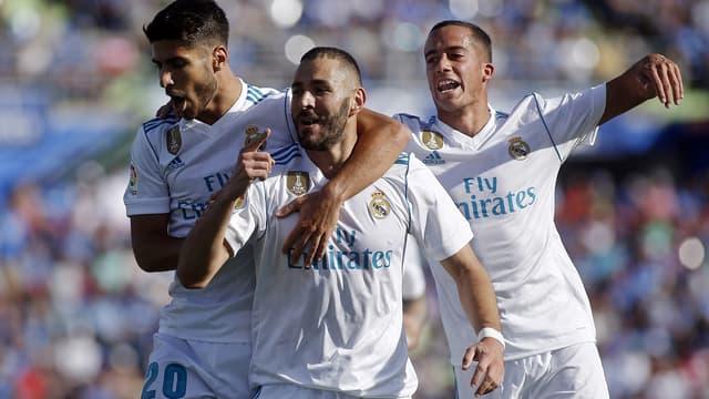 Karim Benzema célèbre un but