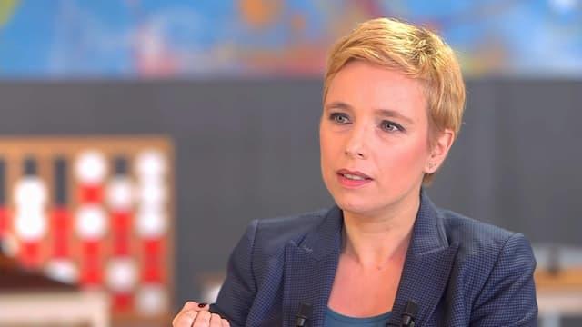 Clémentine Autain, invitée de BFMTV samedi 27 février 2021.