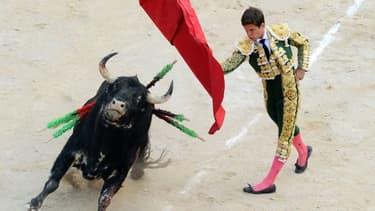 Le matador espagnol El Juli le 13 juillet 2011 à Nîmes lors d'une corrida