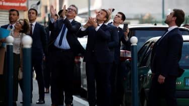 Emmanuel Macron à Pantin (Seine-Saint-Denis) le 7 avril 2020