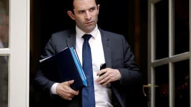 Benoît Hamon à Matignon, le 10 juillet 2014.
