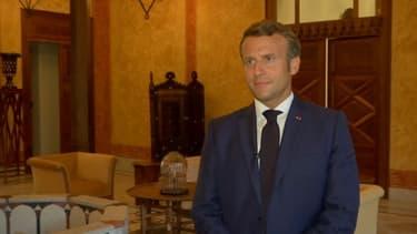 L'entretien d'Emmanuel Macron à BFMTV lors de son déplacement au Liban