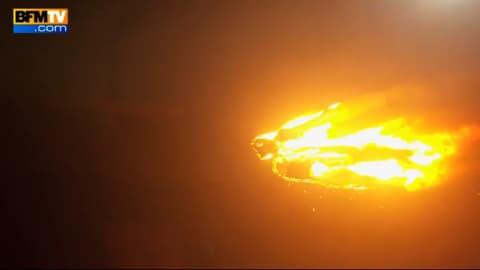 Une torche humaine sur un drone pour la promotion des 4 Fantastiques