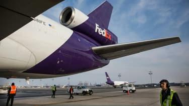 Un avion cargo de Fedex à Newark le 16 décembre 2014
