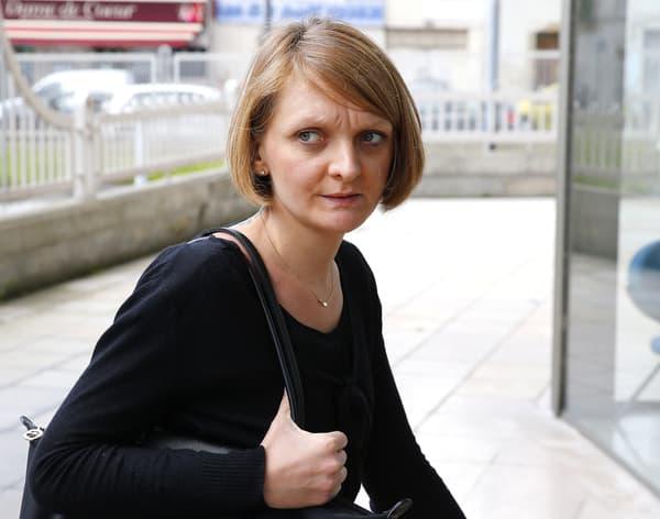 Rachel Lambert à son arrivée à la cour d'appel de Reims, en juin 2016.