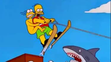 Homer Simpson et le faux personnage Gumbly