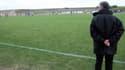 Une pelouse de football amateur